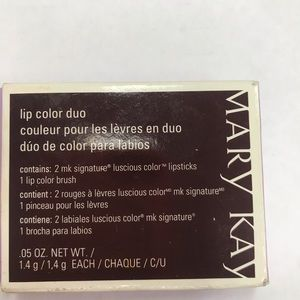 Mary Kay Lip Color Duo .05 Oz Bronze Amber New